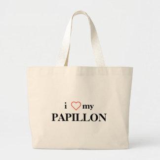 Eu amo meu bolsa do jumbo de Papillon