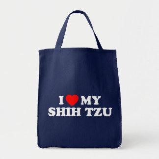 Eu amo meu bolsa do mantimento de Shih Tzu