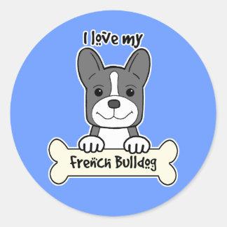 Eu amo meu buldogue francês adesivos