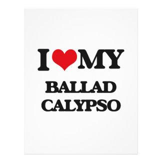 Eu amo meu CALIPSO da BALADA Panfletos Personalizado