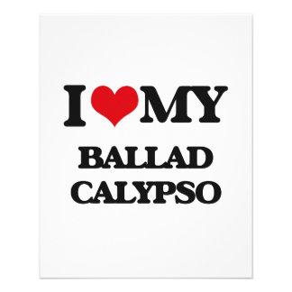 Eu amo meu CALIPSO da BALADA Panfletos Coloridos