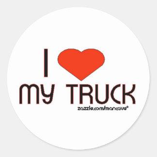 Eu amo meu caminhão adesivo