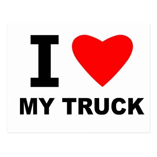Eu amo meu caminhão cartoes postais