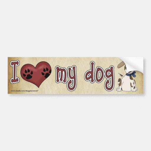 Eu amo meu cão! adesivo