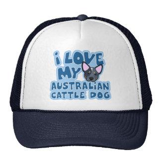 Eu amo meu cão australiano do gado boné