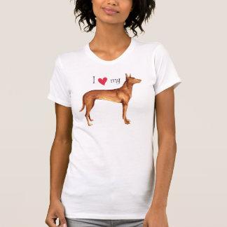 Eu amo meu cão do faraó camiseta