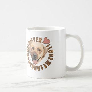 Eu amo meu cão - labrador retriever caneca de café