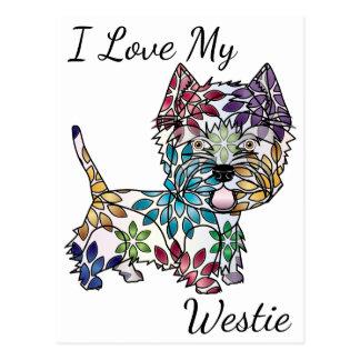Eu amo meu cartão de Westie