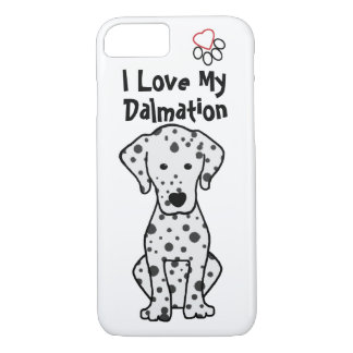 Eu amo meu caso do iPhone 7 de Dalmation Capa iPhone 7