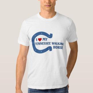 Eu amo meu cavalo de passeio de Tennessee T-shirts