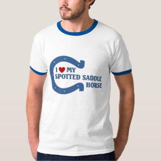 Eu amo meu cavalo de sela manchado tshirts