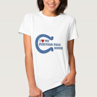 Eu amo meu cavalo peruano de Paso T-shirt