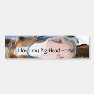 Eu amo meu cavalo principal grande! adesivo para carro