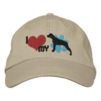 Eu amo meu chapéu bordado Catahoula Boné Bordado