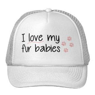 Eu amo meu chapéu dos bebês da pele boné