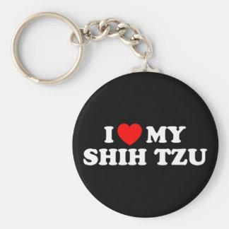 Eu amo meu chaveiro de Shih Tzu