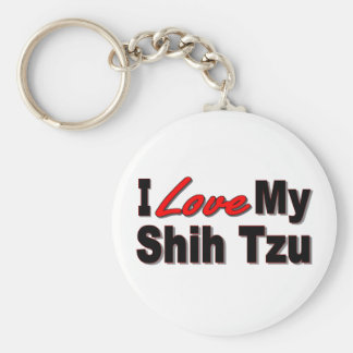 Eu amo meu chaveiro do cão de Shih Tzu