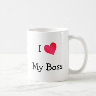 Eu amo meu chefe caneca de café