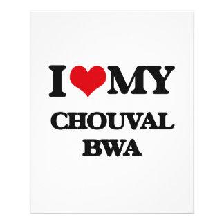 Eu amo meu CHOUVAL BWA Panfletos Coloridos