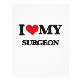 Eu amo meu cirurgião panfleto personalizado