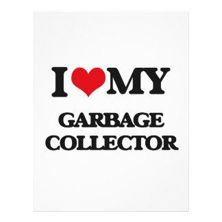 Eu amo meu coletor de lixo panfleto coloridos