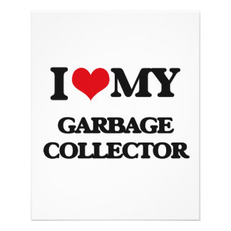 Eu amo meu coletor de lixo panfletos coloridos
