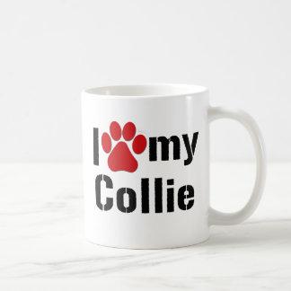 Eu amo meu Collie Caneca De Café