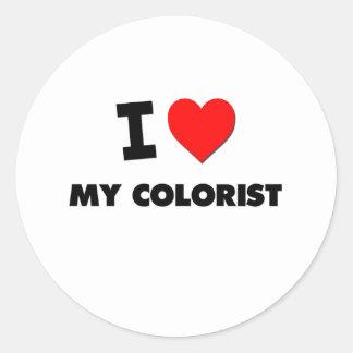 Eu amo meu Colorist Adesivo Em Formato Redondo