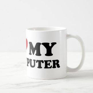 Eu amo meu computador caneca de café