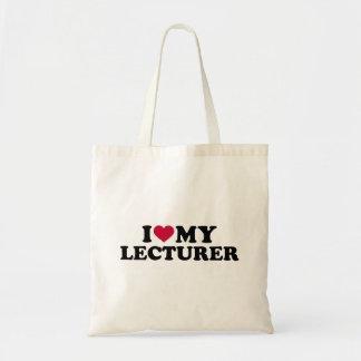 Eu amo meu conferente bolsa tote