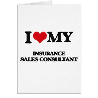 Eu amo meu consultante das vendas do seguro cartão comemorativo