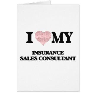 Eu amo meu consultante das vendas do seguro (o cartão comemorativo