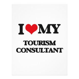 Eu amo meu consultante do turismo panfletos personalizados