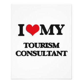 Eu amo meu consultante do turismo modelos de panfleto