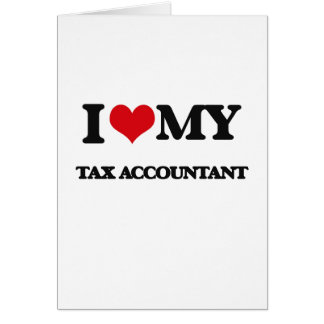 Eu amo meu contador do imposto cartao