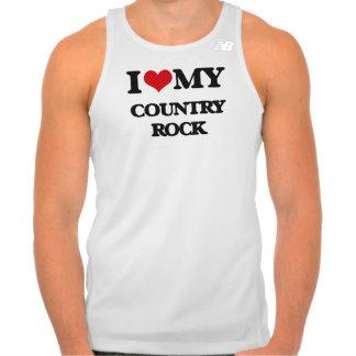 Eu amo meu COUNTRY ROCK Camisetas