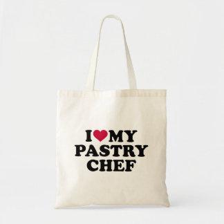 Eu amo meu cozinheiro chefe de pastelaria bolsa tote