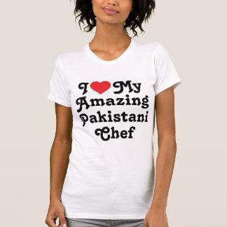 Eu amo meu cozinheiro chefe paquistanês t-shirt
