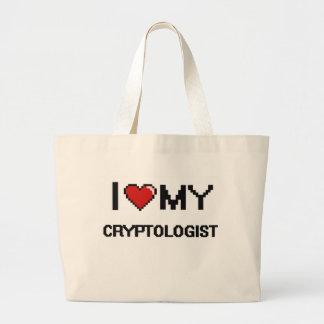 Eu amo meu Cryptologist Sacola Tote Jumbo