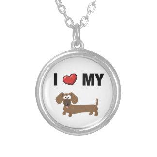 Eu amo meu dachshund pingentes