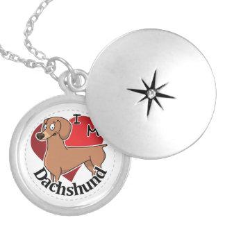 Eu amo meu Dachshund engraçado & bonito adorável Colar Medalhão