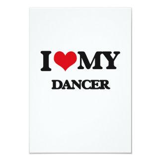Eu amo meu dançarino convite personalizados