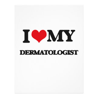 Eu amo meu dermatologista panfleto