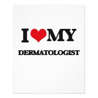Eu amo meu dermatologista panfleto personalizado