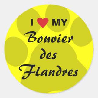 Eu amo meu DES Flandres de Bouvier Adesivo
