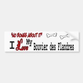 Eu amo meu DES Flandres de Bouvier Adesivo Para Carro