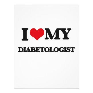 Eu amo meu Diabetologist Panfleto