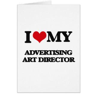 Eu amo meu diretor de arte da propaganda cartão