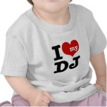 Eu amo meu DJ Camisetas