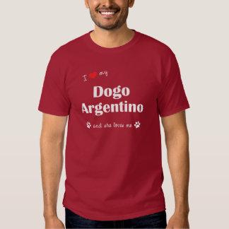 Eu amo meu Dogo Argentino (o cão fêmea) Tshirt